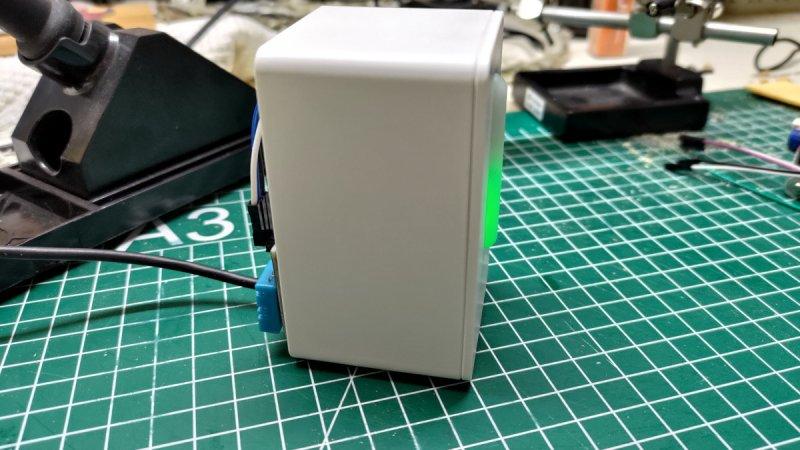 Vista lateral del sensor ya armado