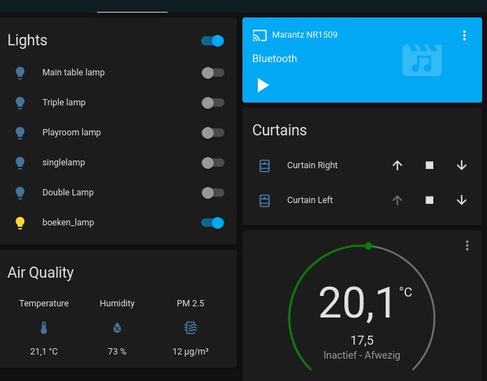 El panel de Home Assistant ahora también incluye el sensor!